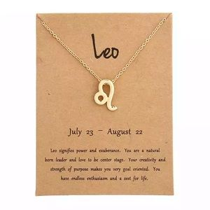 Jewelry - DAINTY 'LEO' ZODIAC SIGN NECKLACE
